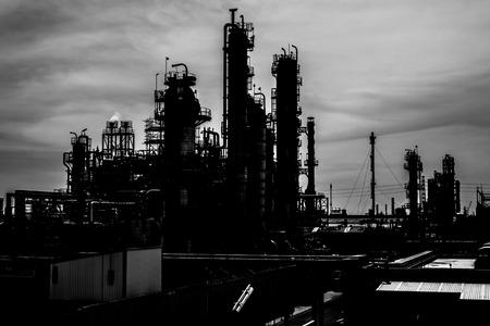Petrochemical plant background photo