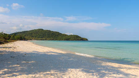 Late afternoon sun on Sao beach on the tropical island of Phu Quoc, Vietnam