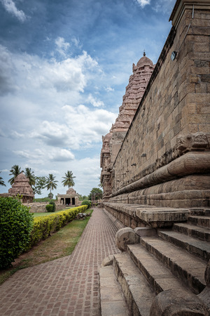god's cow: Old Hindu temple in India