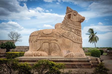 god's cow: Huge Nandi Bull in Shiva temple