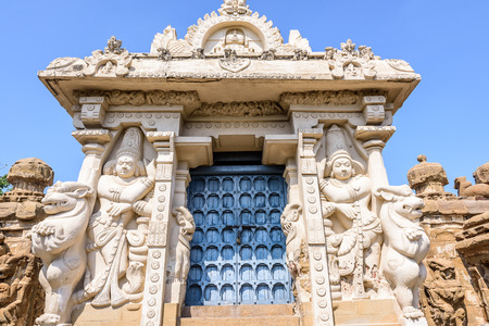 tamil nadu: Basrelief deities in Hindu temple, Tamil Nadu, India, Asia Stock Photo
