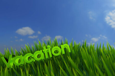 Vacation on green grass photo