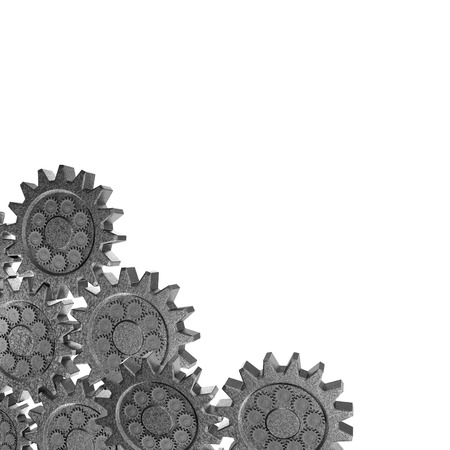 tweak: black and white cogwheel gear mechanism on background. Stock Photo