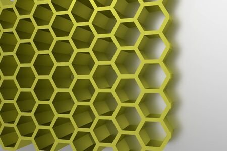 Abstract geometrical honey cells modern template photo