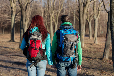 wilderness area: Young Couple in Wilderness Area