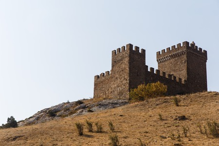 reconstruct: Russia. Crimea. Genoese fortress on fortress mountain. 14.09.2016 Editorial