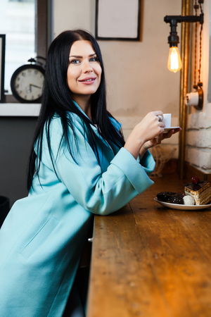 Photo of girl with coffee