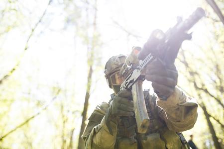 Photo of soldier , photo below