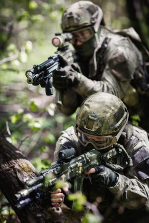 Group of soldiers special forces
