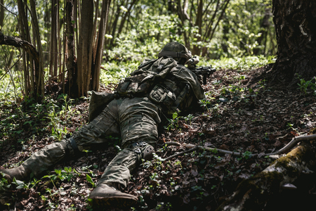 Officer lies in ambush at forest