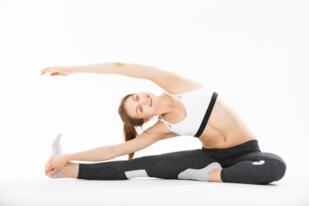 mental activity: Young woman exercise yoga