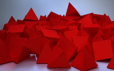 Abstract image of red triangles