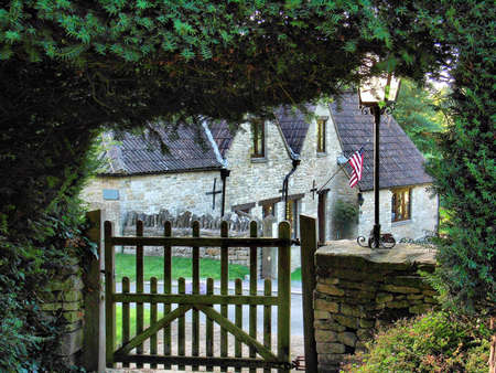 A Pleasant View of the American flag flying near Wotton Under Edge, Gloucestershire, United Kingdom