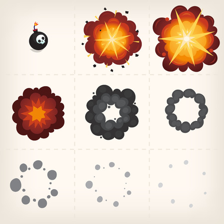 Animation of explosion.