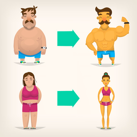 lazyness: Before and after fitness
