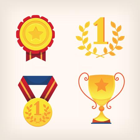 Victory awards signes and symbols Иллюстрация