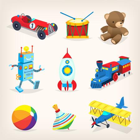 Retro toys for kids. Иллюстрация