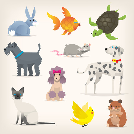 Set of pets Stock Vector - 96971526