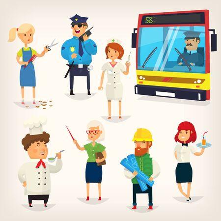 Mensen van verschillende beroepen Vector illustratie.