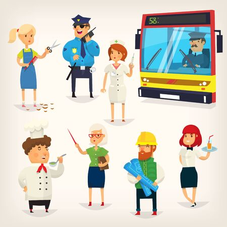 People of different professions Vector illustration.