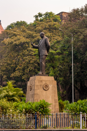 MUMBAI, INDIA - JANUARY 14, 2017 : Statue of Doctor Babasaheb Ambedkar at Mumbai
