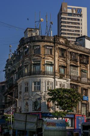 MUMBAI, INDIA - JANUARY 29, 2017 :Old building at Mumbai CST