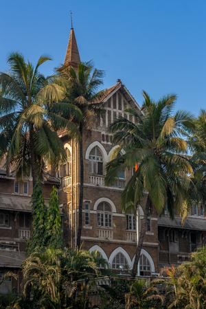 MUMBAI, INDE - 29 janvier 2017: bâtiment du quartier général de la police de Mumbai au CST
