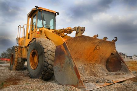 sand quarry: Construction equipment