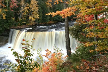 Upper tahquamenon water falls  Stock Photo - 1201434