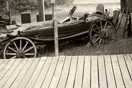 vintage in scrap yard in black and white  photo