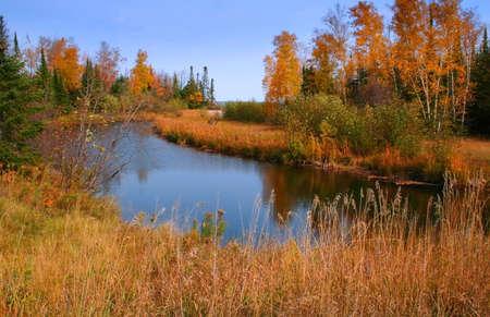 Beautiful autumn lake with Colorful trees