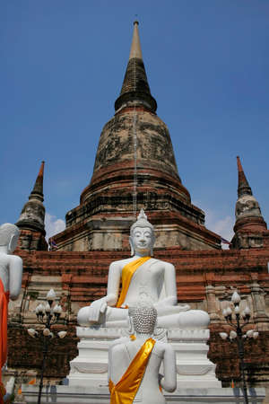 Ancient architecture of Thai buddhist temple at Bangkok photo
