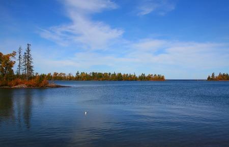 Beautiful lake super shore at Michigan upper peninsula Stock Photo - 1544283