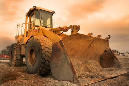 Construction equipment with colourful sky background in michigan Stock Photo - 1544288
