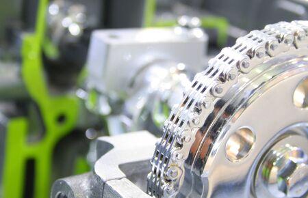 Close up shot of Automobile Engine photo