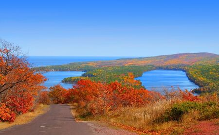 autumn landscape at copper harbor in michigan Stock Photo - 1557494