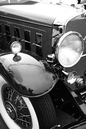 black classic car on woodward dream cruise show Stock Photo - 1646789