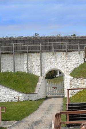 mackinac: Old Mackinac fort entrance at Mackinac island Stock Photo