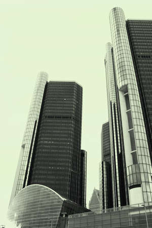 Renaissance center one of the modern archetectures in detroit  photo