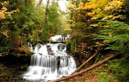 wagner: Wagner Water falls in Michigan upper peninsula Stock Photo