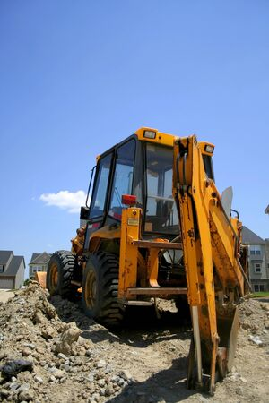 medium size: Medium size construction equipment on construction site Stock Photo