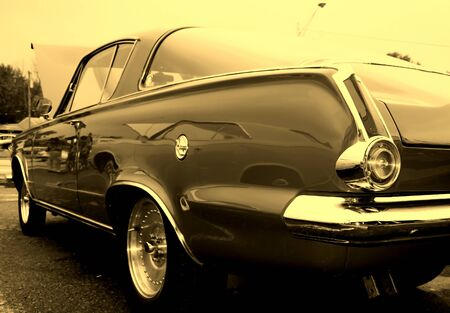 Tail lamp of vintage car in sepia color Stock Photo - 1684267