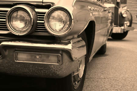 Beautiful american muscle cars in sepia color Stock Photo - 1684243