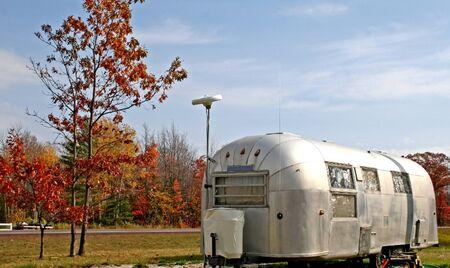 old caravan at road side in michigan
