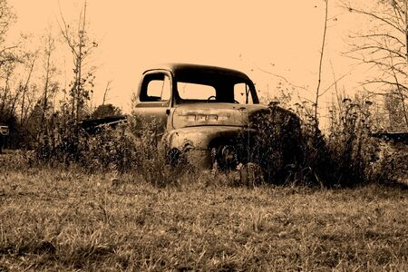 old pickup truck body in the junk yard Stock Photo - 1684282