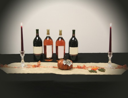 Wine Bottles Party Decoration photo