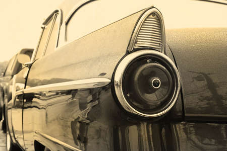 Tail lamp of vintage car in sepia color Stock Photo - 1692414