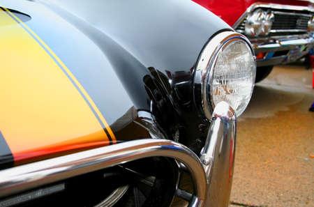 Head lamp of classic car close up shot Stock Photo - 1692403