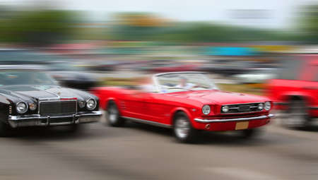 muscle cars cruising on historic woodward avenue Stock Photo - 1692381
