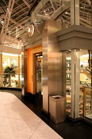modern and luxurious elevator in the mall photo